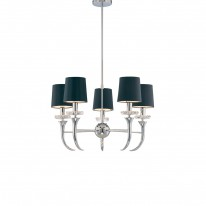 Savoy House Europe Carla 5 Light Chandelier Black