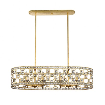 Savoy House Europe Clarion 8 Light Oval Chandelier