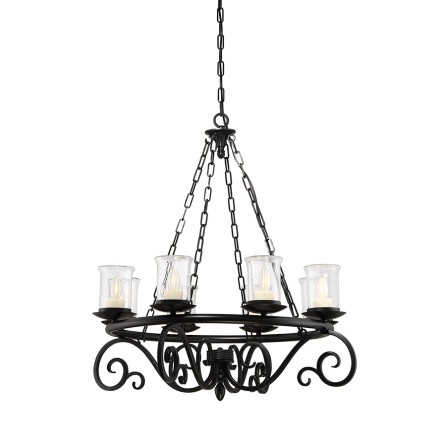 Savoy House Europe Welch 8 Light Outdoor Chandelier