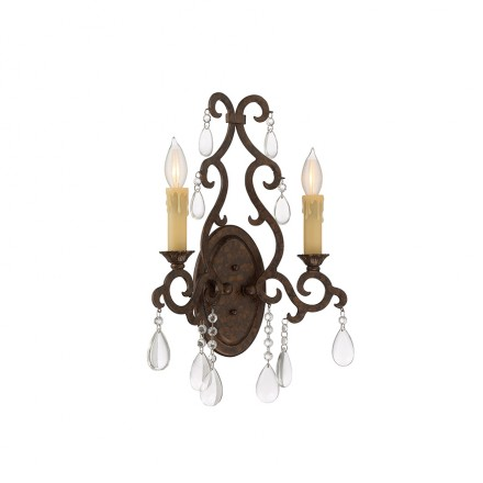 Savoy House Europe Florence 2 Light Sconce