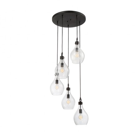 Savoy House Europe Pulaski 5 Light Multipoint Pendant