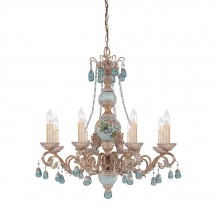 Savoy House Europe Cerulean 8 Light Chandelier