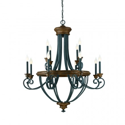 Savoy House Europe Wickham 12 Light Chandelier