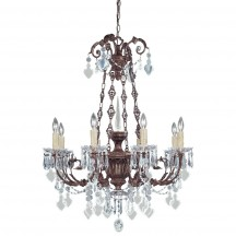 Savoy House Europe Bronze&Crystal 8 Light Chandelier