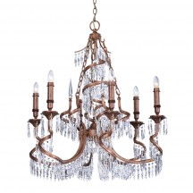 Savoy House Europe Twisted 6 Light Chandelier