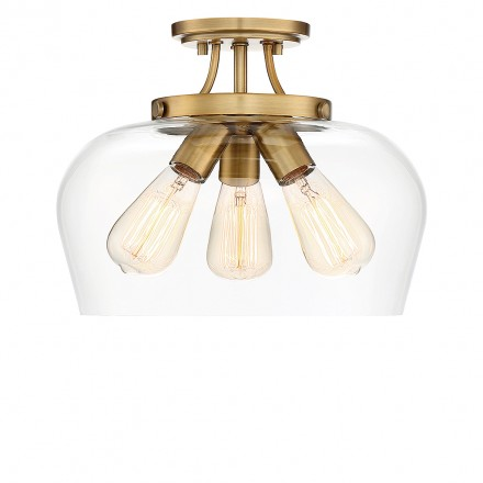 Savoy House Europe Octave 3 Light Semi Flush