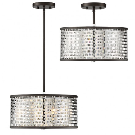 Savoy House Europe Leeds 3 Light Convertible Semi Flush