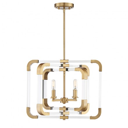 Savoy House Europe Rotterdam 4 Light Convertible Semi Flush
