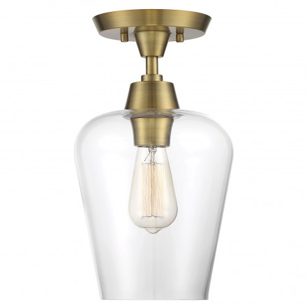 Savoy House Europe Octave 1 Light Semi-Flush
