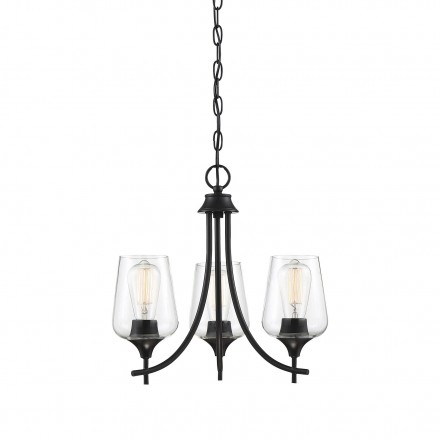 Savoy House Europe Octave 3 Light Black Chandelier