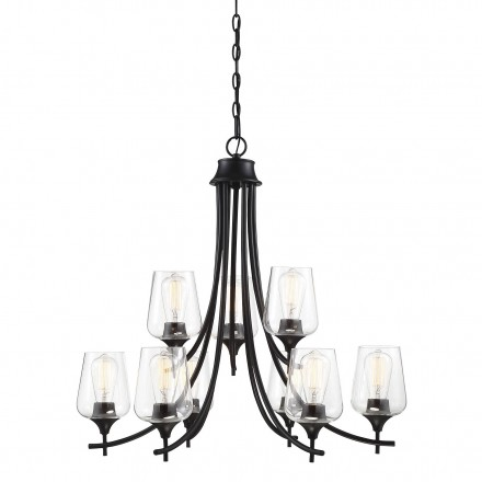Savoy House Europe Octave 9 Light Black Chandelier