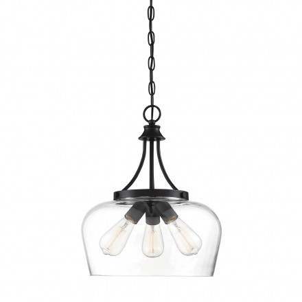 Savoy House Europe Octave 3 Light Black Pendant