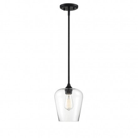 Savoy House Europe Octave 1 Light Black Mini Pendant