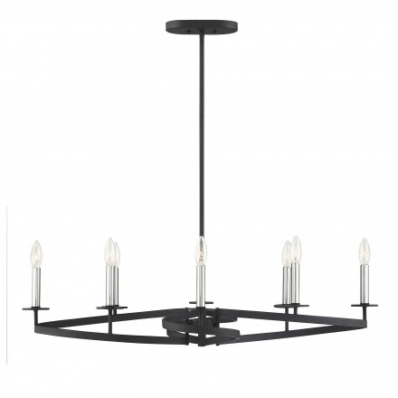 Savoy House Europe Monteray 8 Light Linear Chandelier