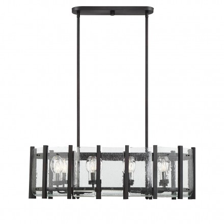Savoy House Europe Racine 8 Light Outdoor Linear Chandelier