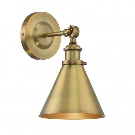 Savoy House Europe Glenn 1 Light Warm Brass Wall Sconce