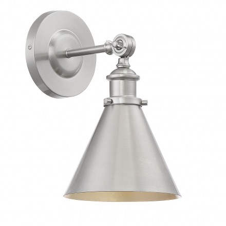 Savoy House Europe Glenn 1 Light Satin Nickel Wall Sconce
