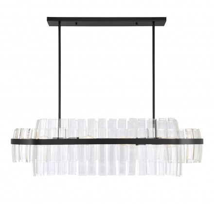 Savoy House Europe Hansen 8 Light Linear Chandelier