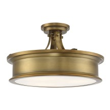 Savoy House Europe Watkins 3 Light Warm Brass Semi Flush