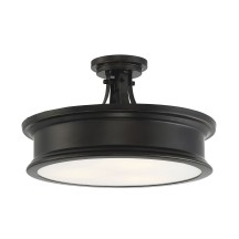 Savoy House Europe Watkins 3 Light Bronze Semi Flush