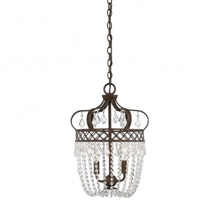 Savoy House Europe Rochelle 2 Light Crystal Pendant