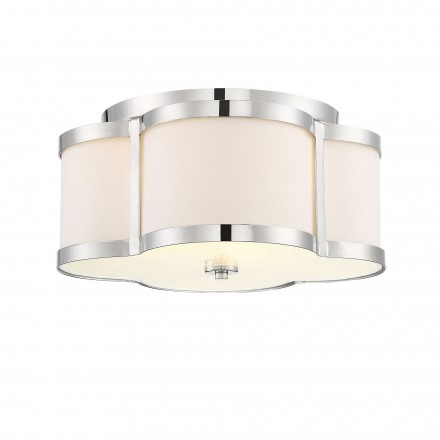 Savoy House Europe Lacey 3 Light Polished Nickel Semi Flush