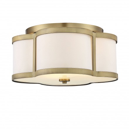 Savoy House Europe Lacey 3 Light Warm Brass Semi Flush