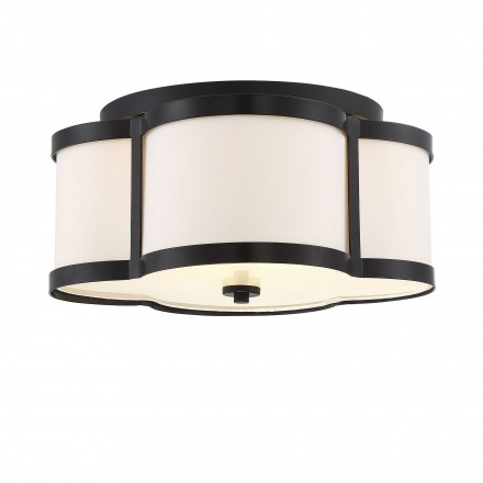 Savoy House Europe Lacey 3 Light Bronze Semi Flush