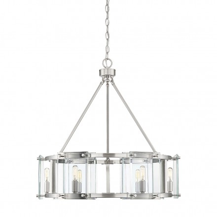 Savoy House Europe Prescott 6 Light Satin Nickel Pendant