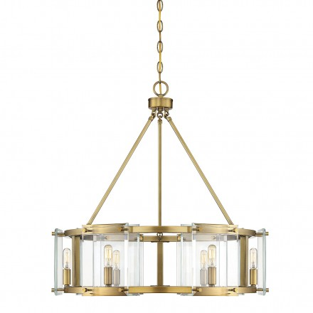 Savoy House Europe Prescott 6 Light Warm Brass Pendant
