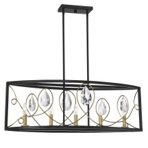 Savoy House Europe Suave 5 Light Linear Chandelier