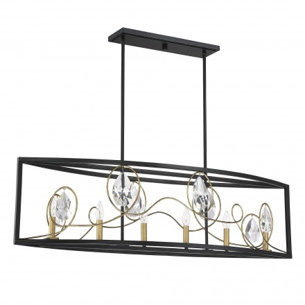 Savoy House Europe Suave 6 Light Linear Chandelier