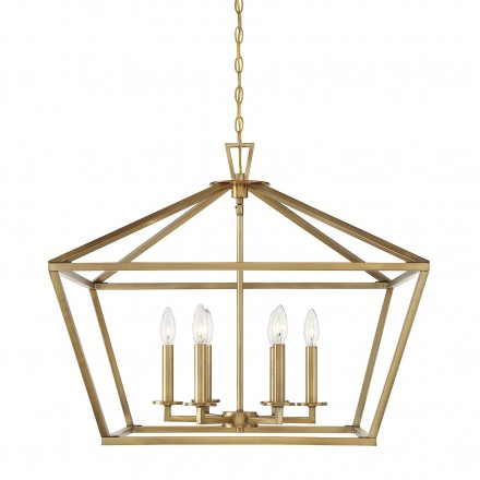 Savoy House Europe Townsend 6 Light Warm Brass Lantern