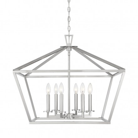 Savoy House Europe Townsend 6 Light Satin Nickel Lantern