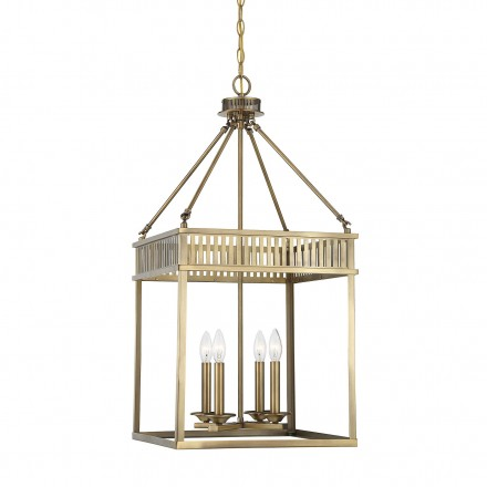Savoy House Europe William 4 Light Warm Brass Lantern