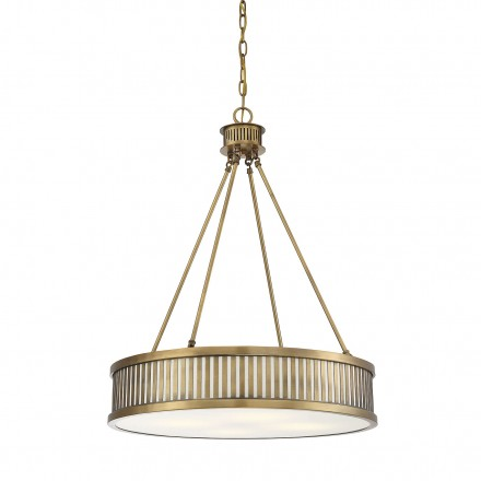 Savoy House Europe William 4 Light Warm Brass Pendant