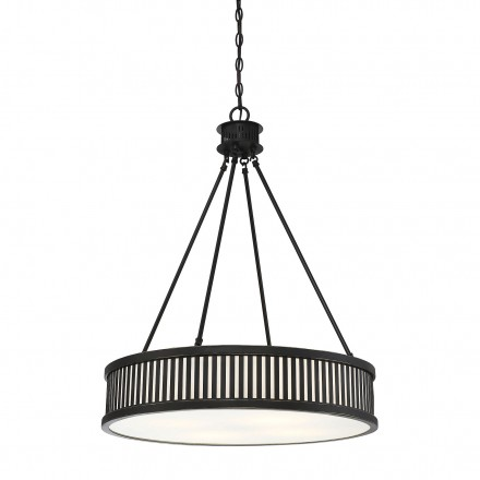 Savoy House Europe William 4 Light Bronze Pendant