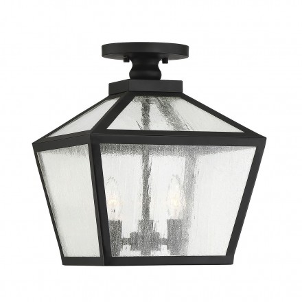 Savoy House Europe Woodstock 3 Light Outdoor Flush Mount Lantern