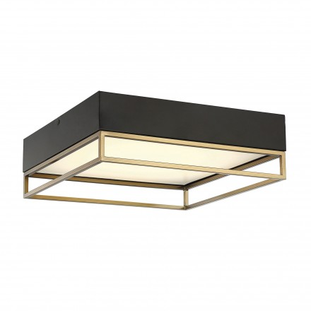 Savoy House Europe Creswell Warm Brass Square LED Flush Mount