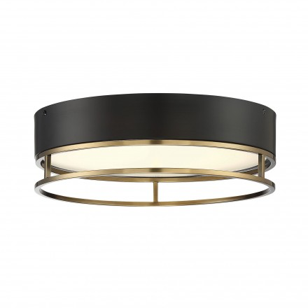 Savoy House Europe Creswell Warm Brass Oval LED Flush Mount