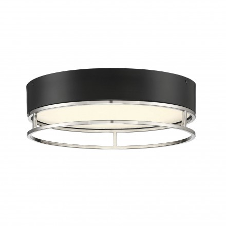 Savoy House Europe Creswell Satin Nickel Oval LED Flush Mount
