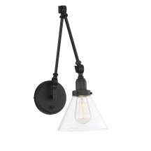 Savoy House Europe Drake 1 Light Matte Black Wall Sconce