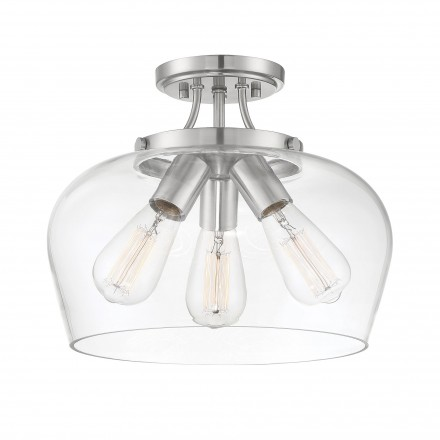 Savoy House Europe Octave 3 Light Semi-Flush Mount