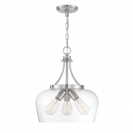 Savoy House Europe Octave 3 Light Satin Nickel Pendant