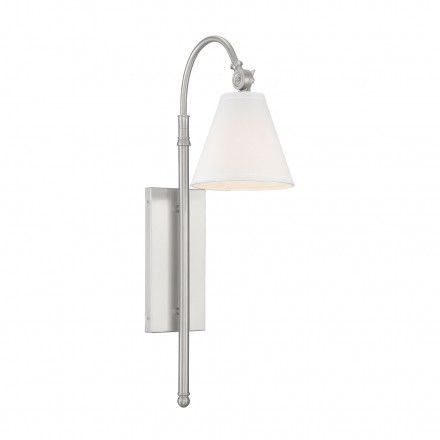 Savoy House Europe Rutland 1 Light Satin Nickel Sconce