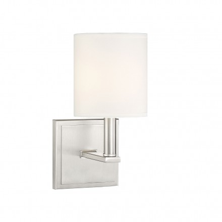 Savoy House Europe Waverly Satin Nickel Sconce