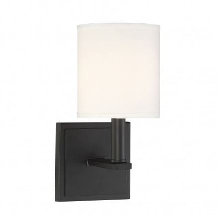 Savoy House Europe Waverly Matte Black Sconce