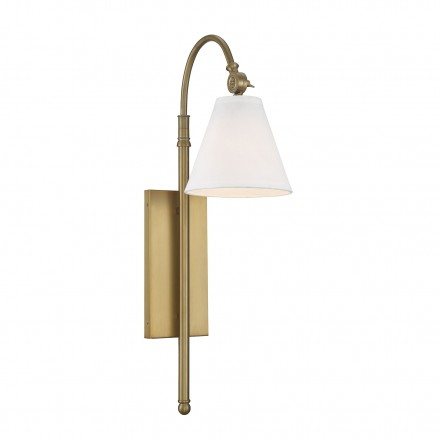 Savoy House Europe Rutland 1 Light Warm Brass  Sconce