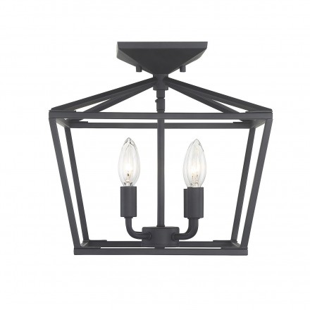 Savoy House Europe Townsend 4 Light Matte Black Semi-Flush