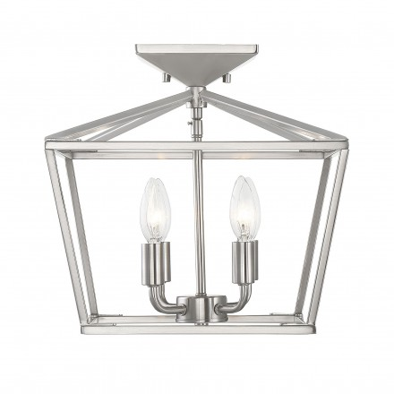 Savoy House Europe Townsend 4 Light Satin Nickel Semi-Flush